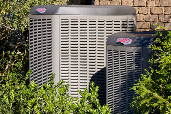 Air Conditioner Outside a Home
