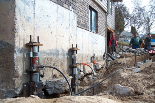 A Home Foundation Being Repaired   Foundation Repair Cost