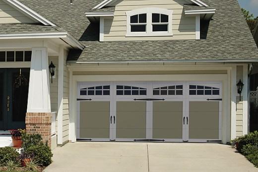 Craftsman-inspired garage door