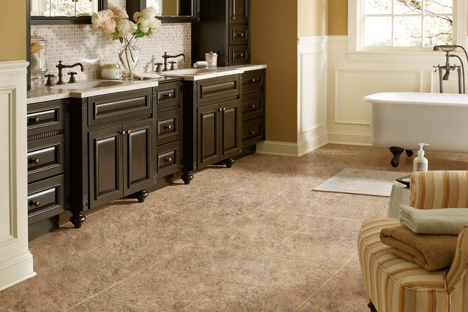 Cheap Vinyl Bathroom Flooring