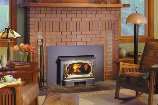 Fireplace insert installation