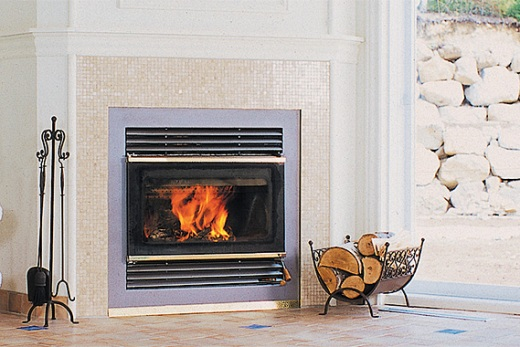 EPA-qualified wood-burning fireplace in home