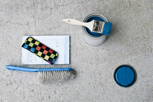 Painting a concrete floor in a home's basement