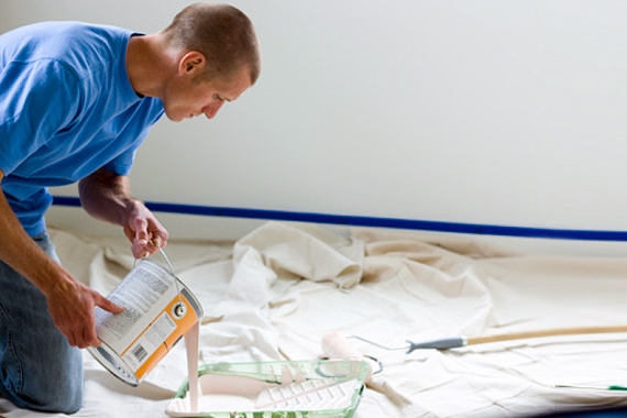 Using A Drop Cloth Painters