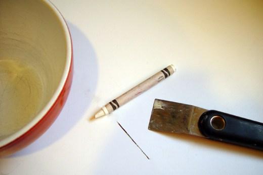 Countertop scuff-removing tools