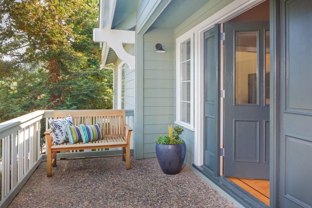Porch area at a Craftsman home