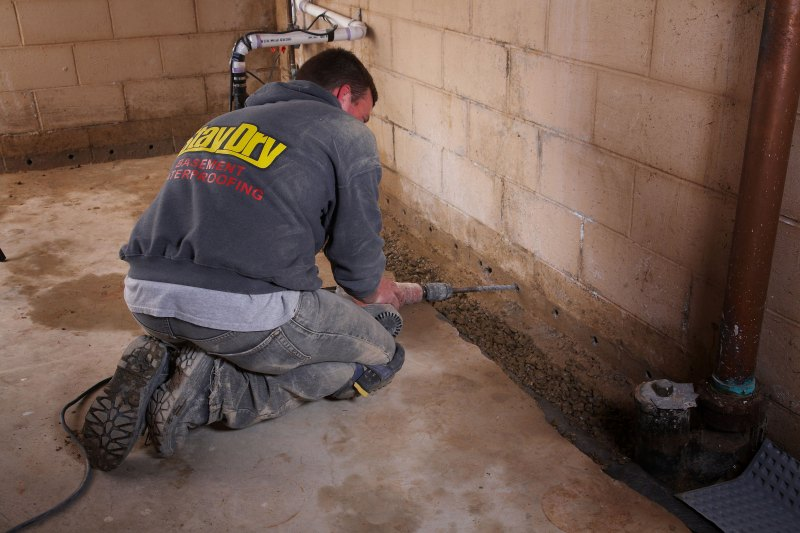 french drain basement solutions
