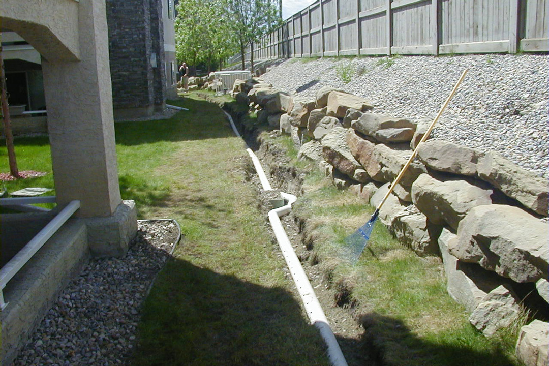 designs for french drains or curtain drains