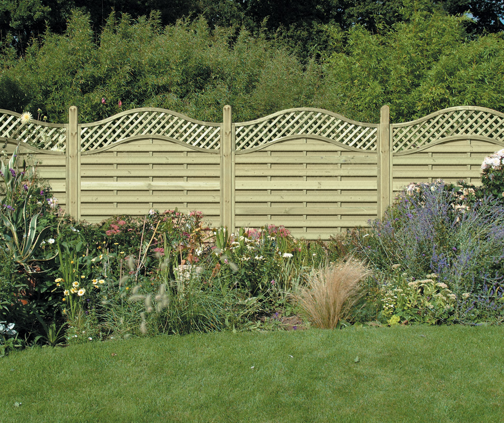 6-foot wide modular fence panels