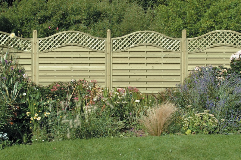 6-foot wide modular fence panels