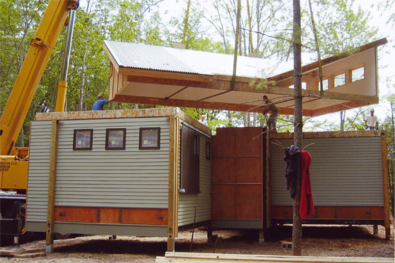 Prefab Home Assembled with a Crane   Modular Homes Prices
