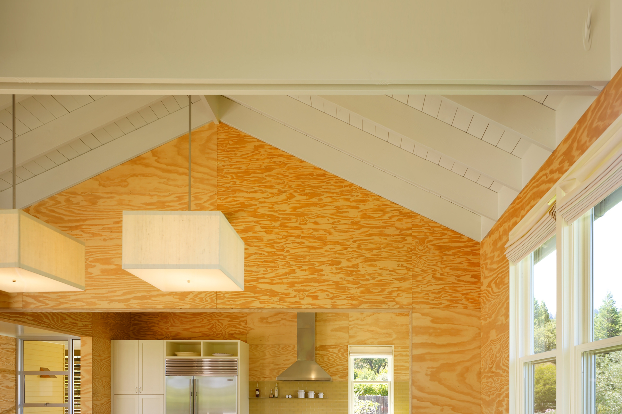 Vaulted ceiling in a modern home