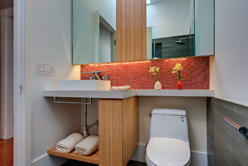 Clean bathroom in a home