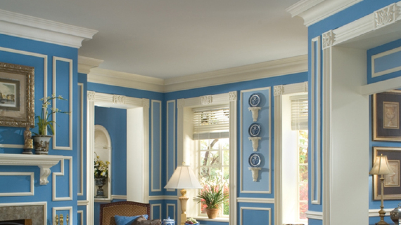 Elaborate Lightweight Polyurethane Crown Molding