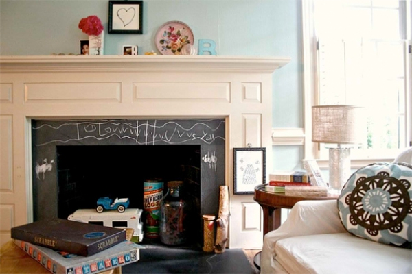 Fireplace Pictures   Remodel Your Fireplace   Slate Chalk