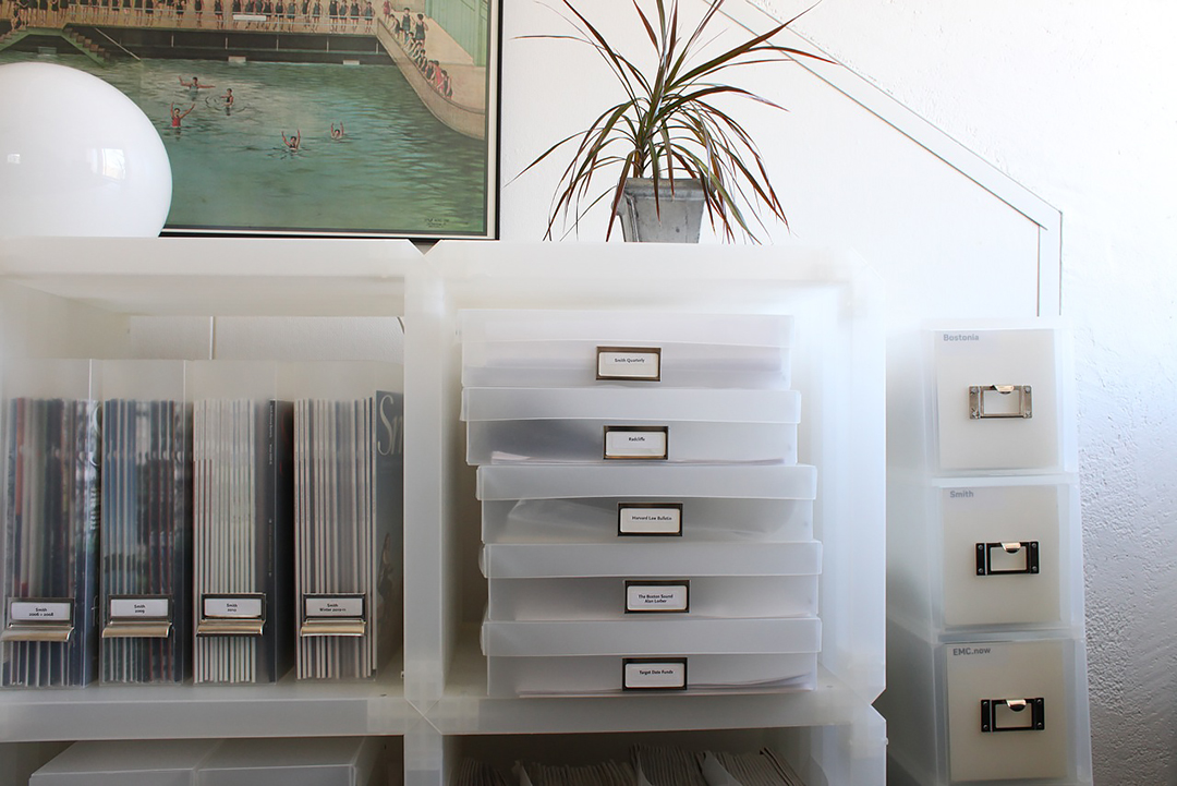 Home filing system for financial documents