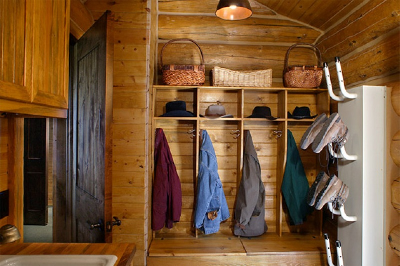 Wood-Paneled Mud Room with Boot Warmers | Mudroom Ideas