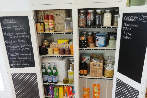 The redesigned pantry from 11 Magnolia Lane
