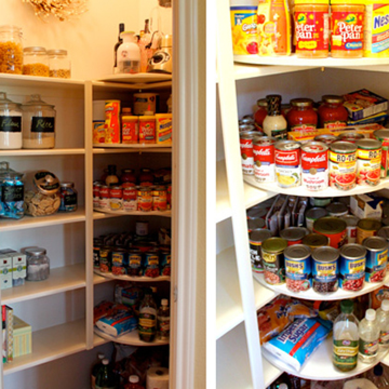 Decorchick's lazy susan pantry makeover