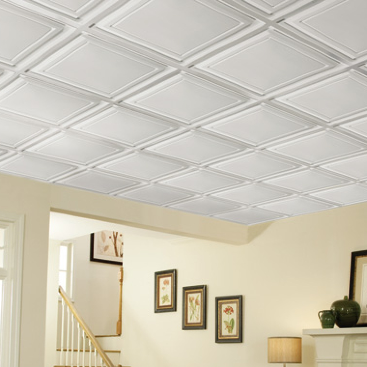 Basement Ceiling Ideas Installation