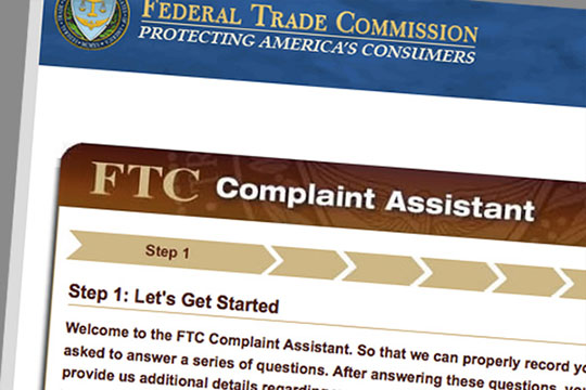 Online form at FTC website to dispute a credit report