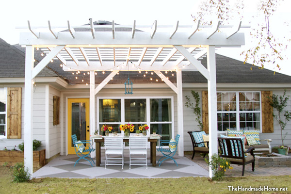 White Painted Wood Pergola DIY Project | Pergola Ideas