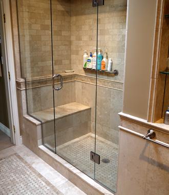 Shower With Gl Doors Bathroom Showers