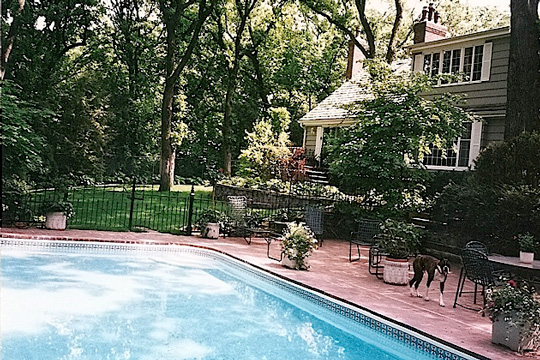 Swimming Pool in the Backyard of a Home   Swimming Pools