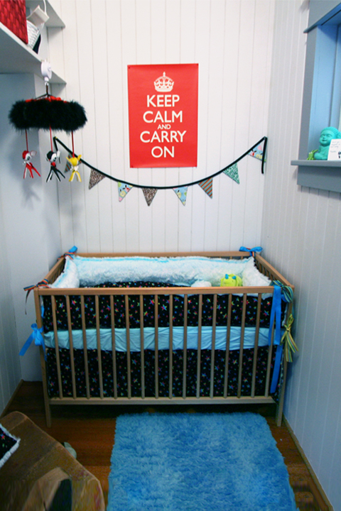 After a closet was converted to a baby nursery
