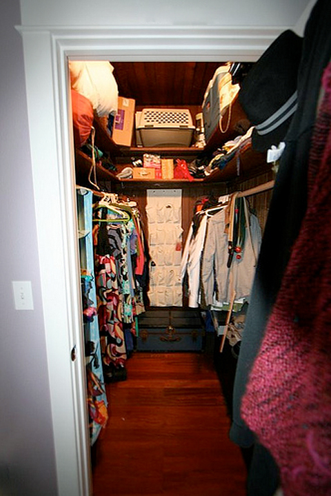 Before a closet was converted into a nursery