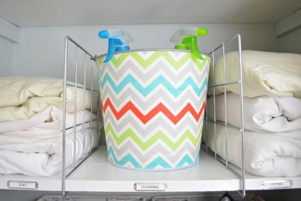 Shelf Dividers in Linen Closet   Closet Organization Tips