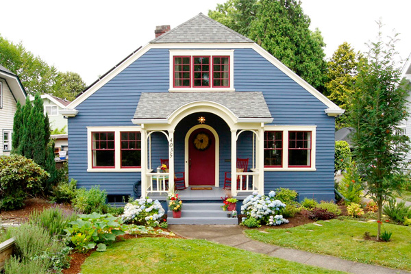 Contrast Color Exterior Paint | Exterior Home Paint Colors