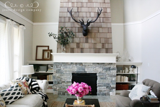 Reveal photos from several fireplace makeovers
