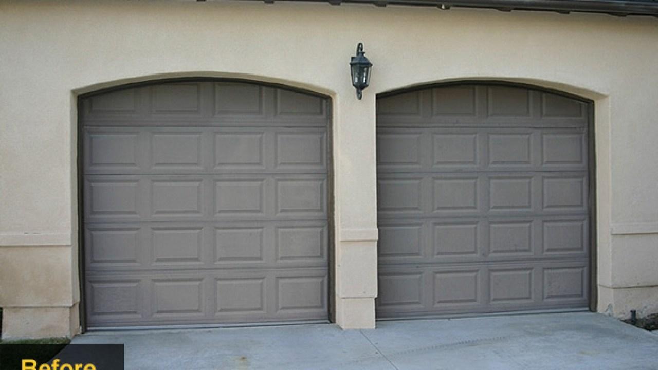 Garage Door Makeovers Wood Doors Houselogic