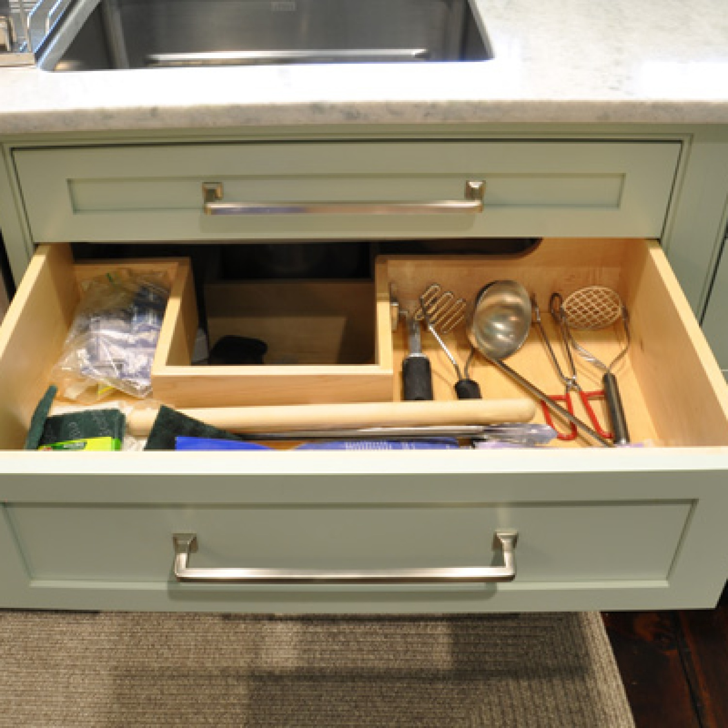 U-Shaped Drawer in Kitchen | Under-Sink Organizer Ideas