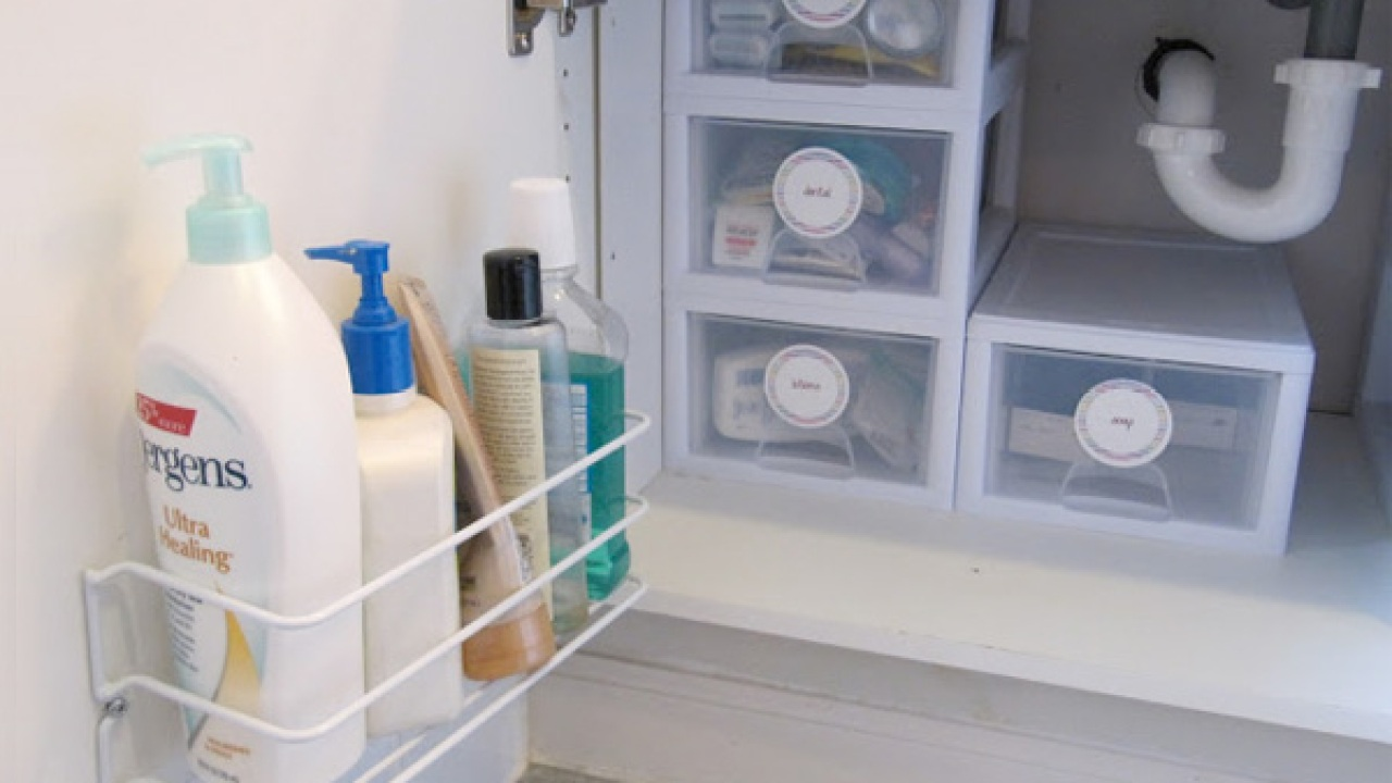 Under Sink Storage Bathroom Organizer