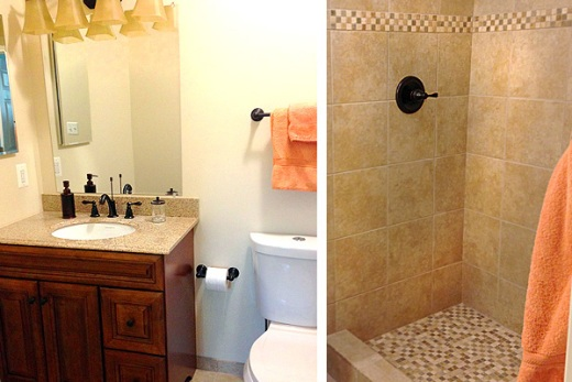 Lisa Kaplan Gordon's new basement bathroom