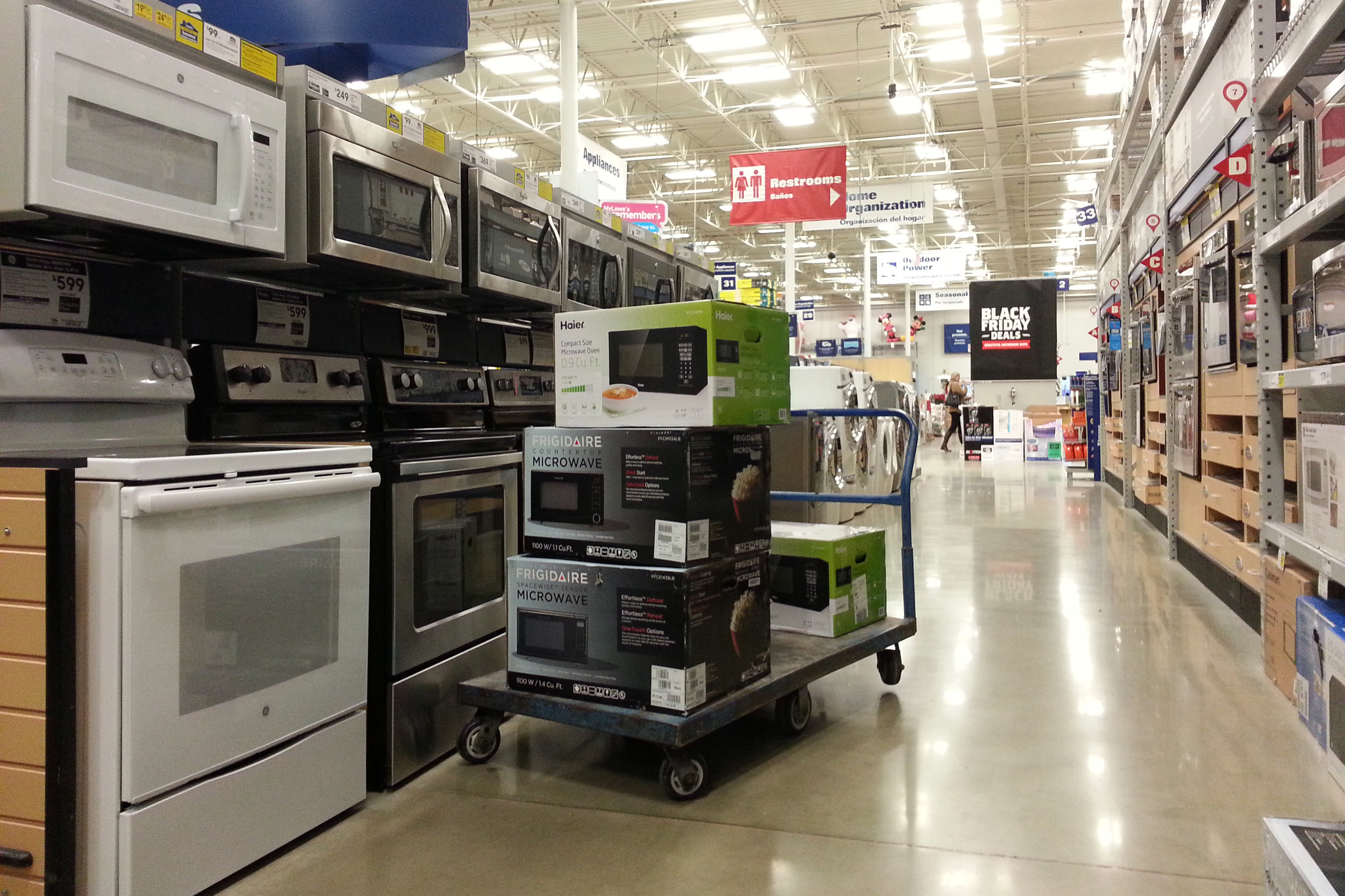 Black Friday sale at appliance store