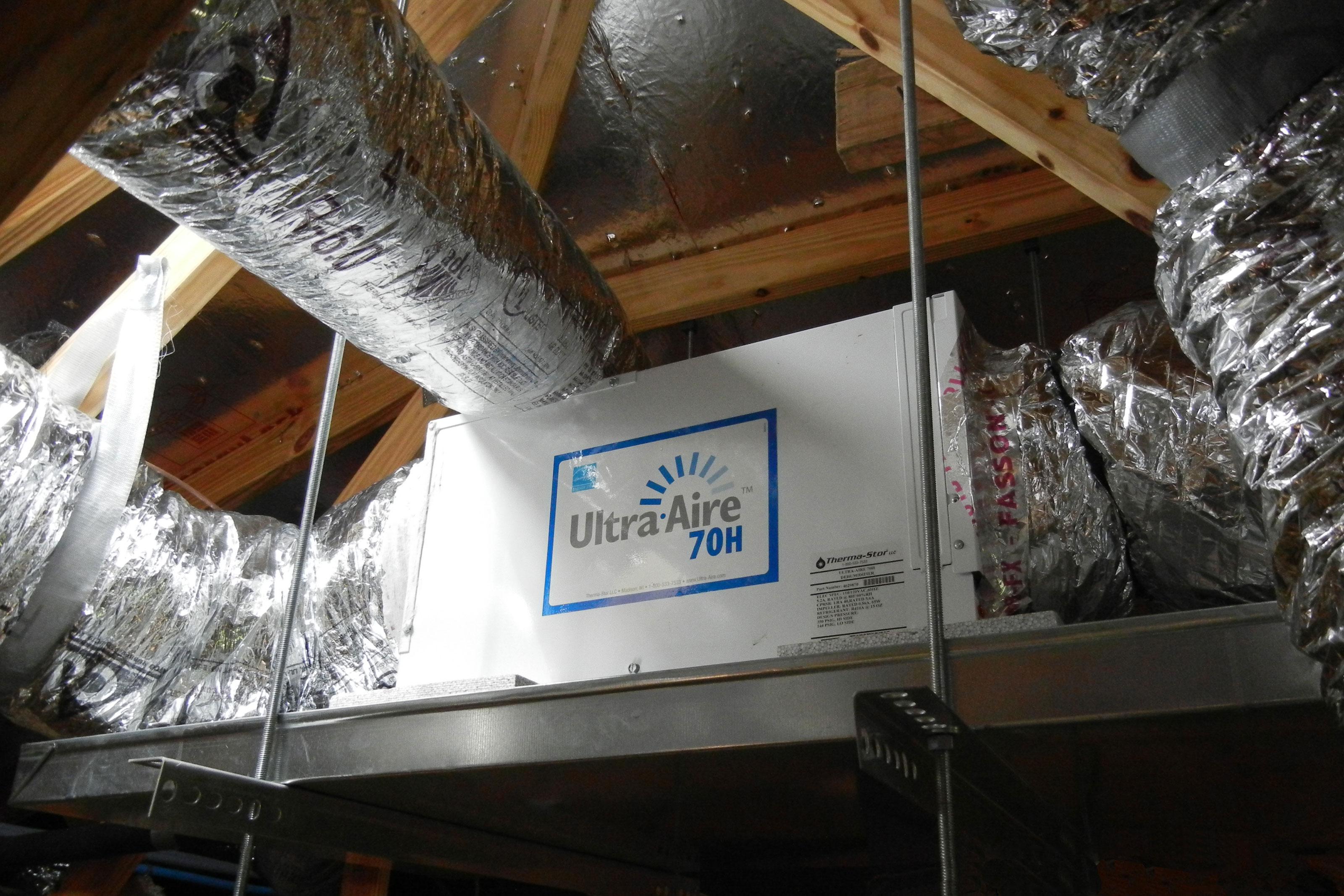 Whole-home dehumidifier