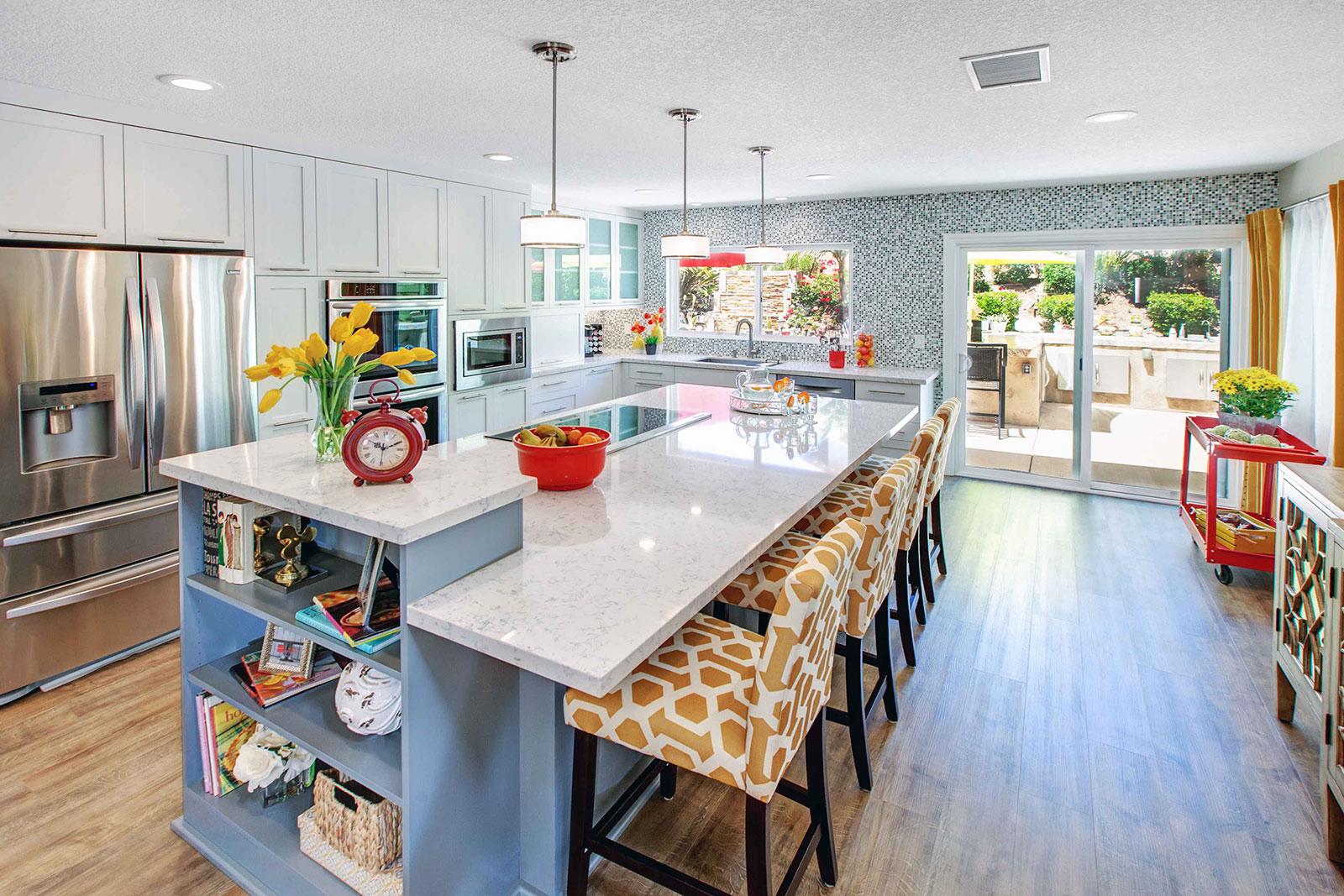A Silestone quartz kitchen counter