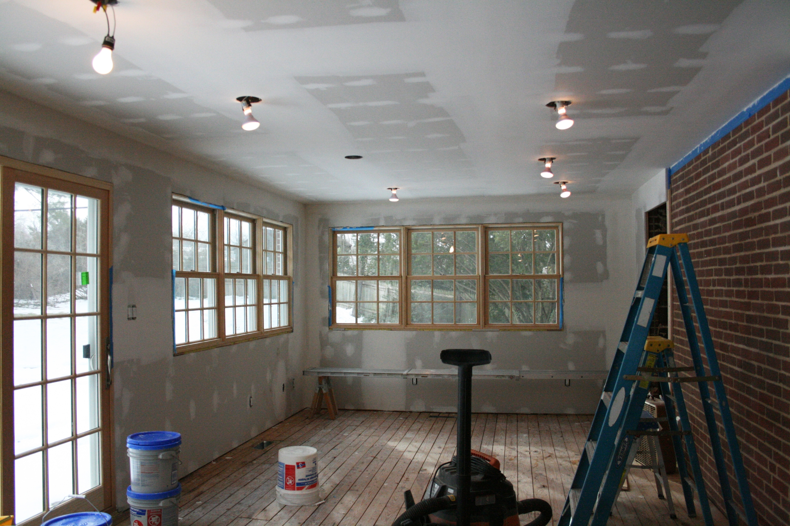 Room in home during construction