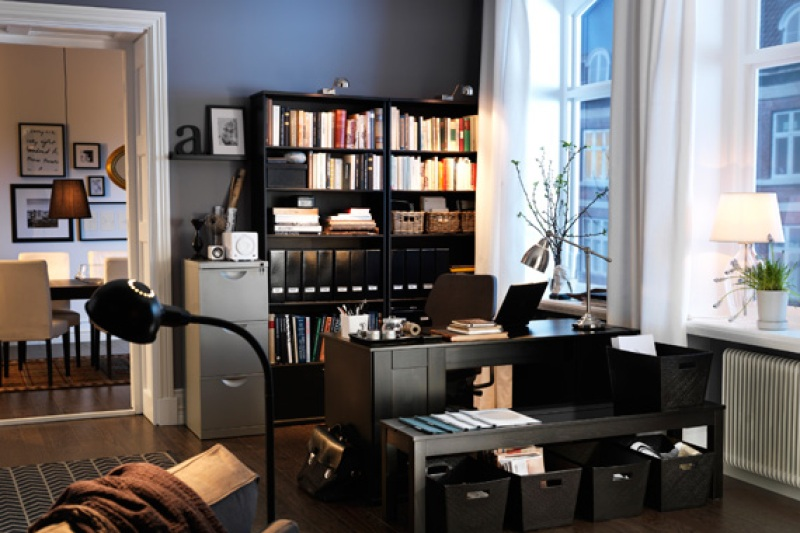 Home Office in Living Room   Home Office Deductions