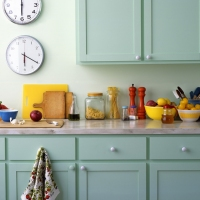 Cuisine peinte en vert | Schémas de couleurs de cuisine