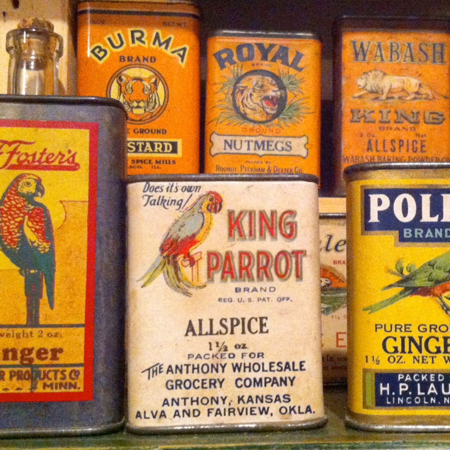 Vintage spice cans to be recycled for storage