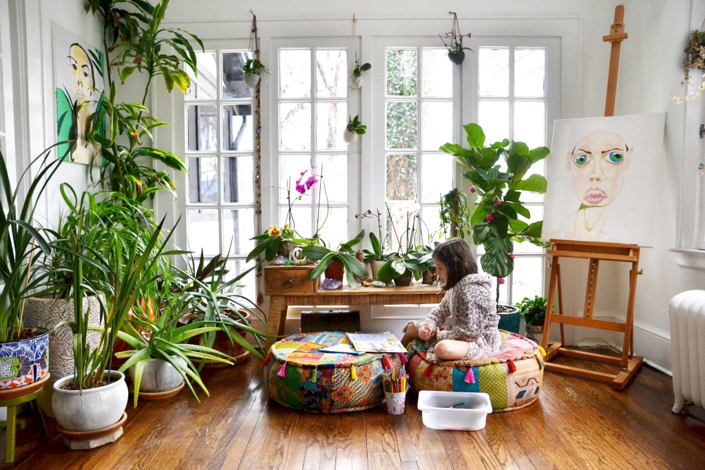Lovely plants in a home