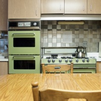 Avocado green kitchen