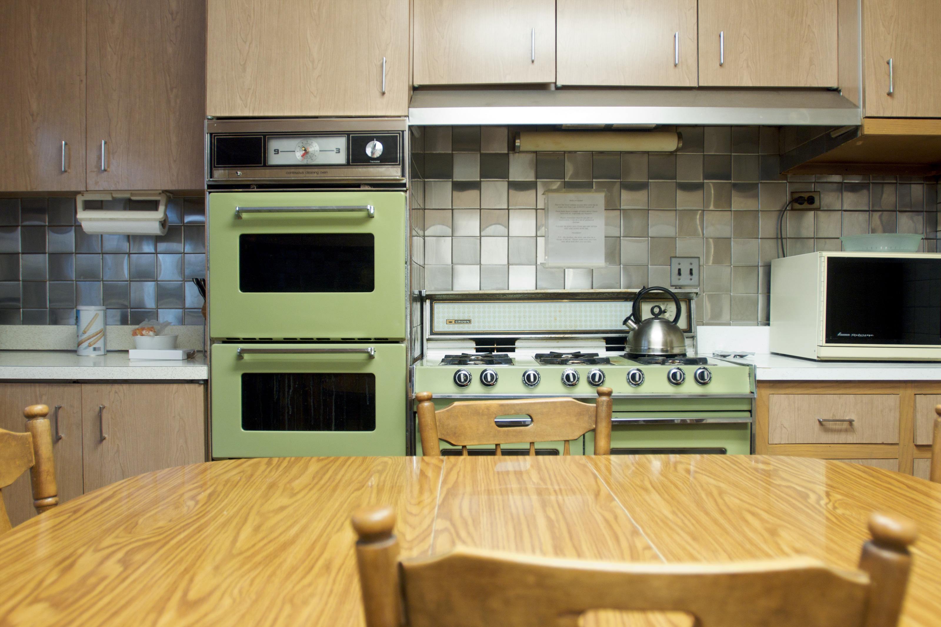Avocado green kitchen