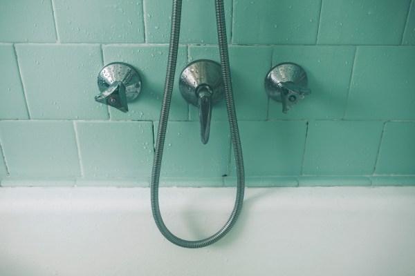 Moldy shower tile