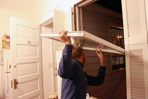 Replacing a window in a house