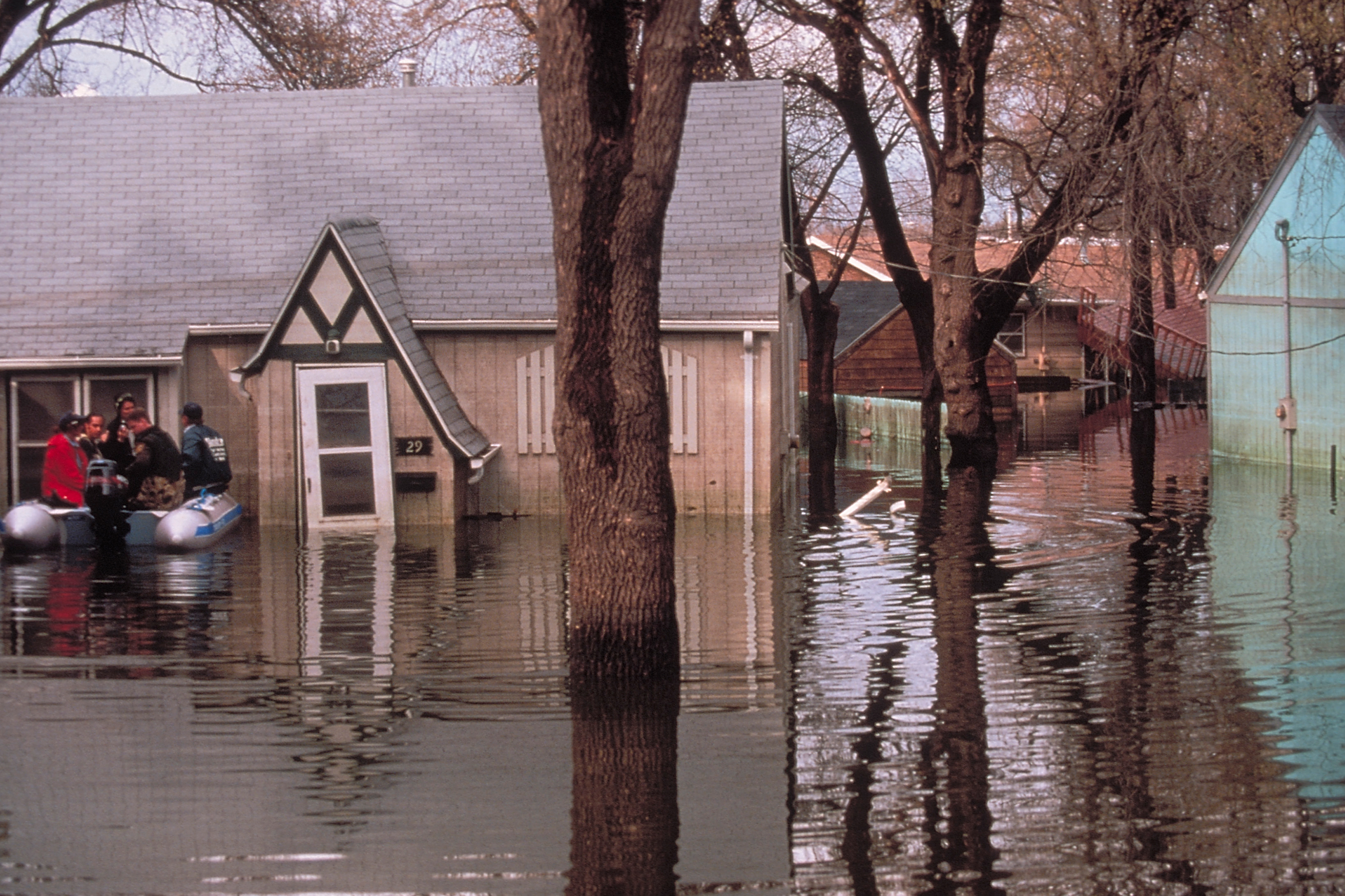 A flooded house in North Dakota